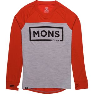 Mons Royale Redwood V-Neck Long Sleeve Shirt - Men's