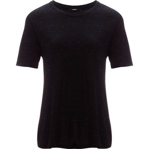 Monrow Black Spec Heather Oversized Crew - Women's