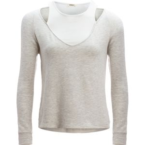 Monrow Double Layer Long-Sleeve V-Neck - Women's