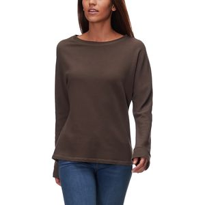 Monrow Shirred Back Long-Sleeve Top - Women's