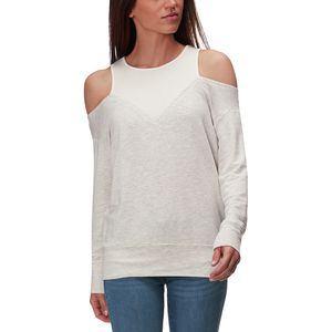 Monrow Off Shoulder Double Layer Sweatshirt - Women's