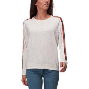 Monrow Supersoft Rainbow Stripe Vintage Raglan - Women's