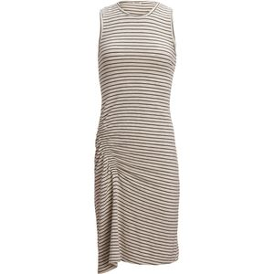 Monrow Supersoft Pinestripe Dress with Elastic Detail - Women's