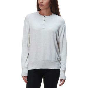 Monrow Supersoft Henley Sweatshirt - Women's