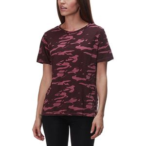 Monrow Two Tone Camo Oversized Crew Top - Women's