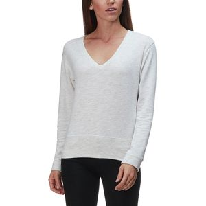 Monrow Supersoft Long-Sleeve V-Neck Top - Women's