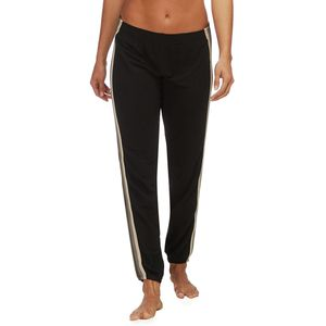 Monrow Supersoft Neutral Stripe Elastic Waist Sweat Pant - Women's