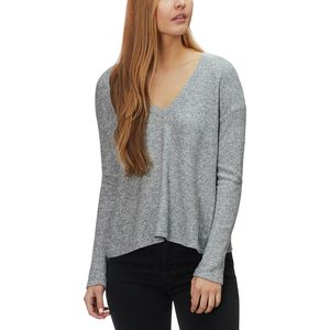 Monrow V-Neck Thermal Sweatshirt Top - Women's