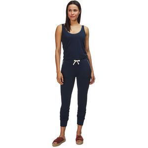 Monrow Supersoft Blanket Stitch Tank Jumpsuit - Women's