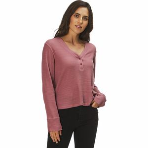 Monrow Tissue Thermal Henley Shirt - Women's