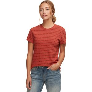 Monrow Stripe Relaxed Basic Crew - Women's
