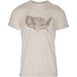Meridian Line USA Park Map T-Shirt - Men's
