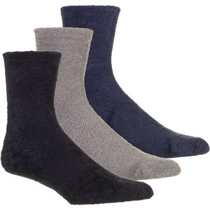 Muk-Luks Aloe Crew Socks - 3-Pack - Women's