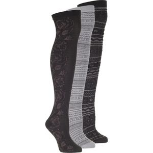 Muk-Luks Microfiber Over the Knee Socks - 3-Pack - Women's