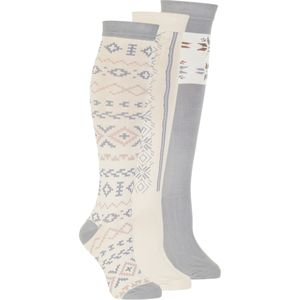 Muk-Luks Jacquard Knee High Socks - 3-Pack - Women's
