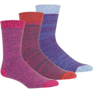 Muk-Luks Microfiber Boot Socks - 3-Pack - Women's