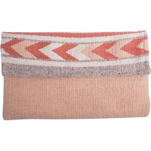 MZ Fair Trade Sweet Peach Wool Crossbody Clutch Purse - Women's