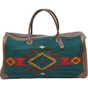MZ Fair Trade Wild West Leather and Wool Duffel Bag - Women's