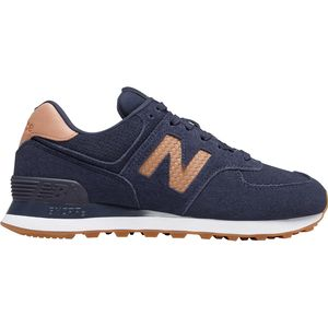 New Balance 574 Woven Logo Shoe - Women's