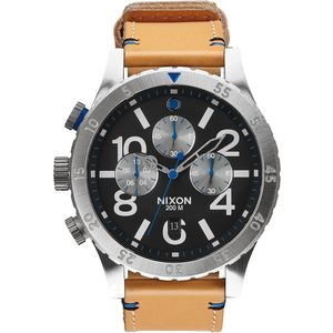 Nixon 48-20 Chrono Leather Watch - Men's