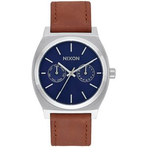 Nixon Time Teller Deluxe Leather Watch