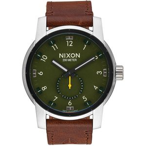 Nixon Patriot Leather Watch - Timberline Valley Collection