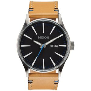 Nixon Sentry Leather Watch - Men's