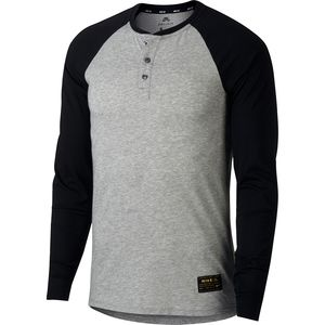 Nike SB Dry Top Long-Sleeve Henley - Men's