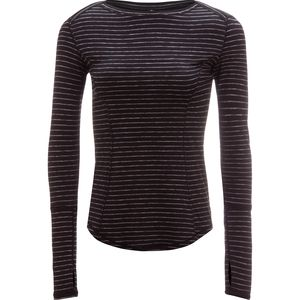 90 Degrees Missy Striped Long-Sleeve Top - Women's