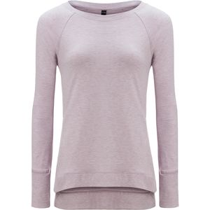 90 Degrees Side Slit Long-Sleeve Sweatshirt - Women's