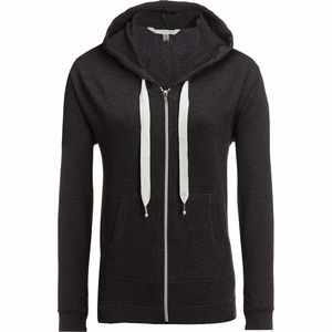 New York Laundry Brushed French Terry Zip Front Hoodie - Women's