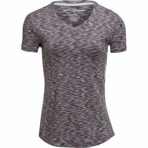 New York Laundry Space Dye Short-Sleeve V-Neck Performance T-Shirt - Women's