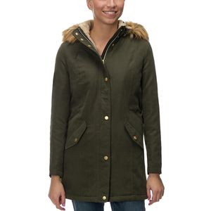 Noize Faux Fur Trim Parka - Women's