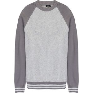 Ocean Current Cool Grey Varsity Crew Neck Sweater - Men's