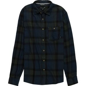 Ocean Current Crest Hunter Woven Burnout Flannel Shirt - Men's