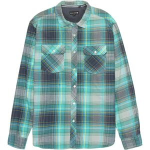 Ocean Current Satellite Ocean Blue Flannel Shirt - Men's