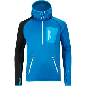 Ortovox Merino Zip-Neck Hooded Fleece Jacket - Men's