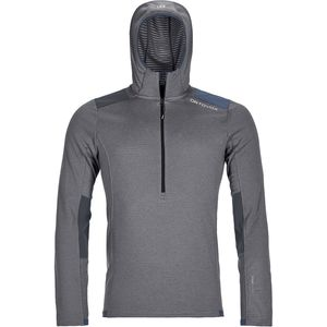 Ortovox Fleece Light Grid Zip-Neck Hoodie - Men's