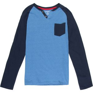 Overdrive Henley Textured Knit Raglan With Pocket - Men's