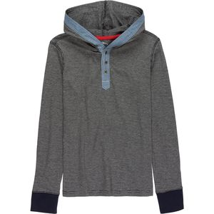 Overdrive Knit Henley With Hood - Boys'