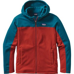 Patagonia Micro D Hooded Fleece Jacket - Boys'