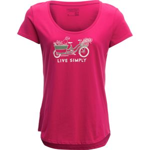 Patagonia Live Simply Market Bike Cotton Scoop T-Shirt - Women's