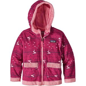 Patagonia Fuzzy Lop Hooded Fleece Jacket - Infant Girls'