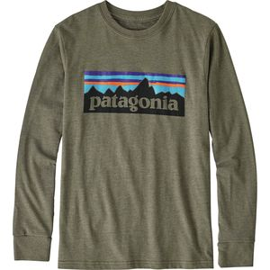 Patagonia P-6 Logo T-Shirt - Long-Sleeve - Boys'