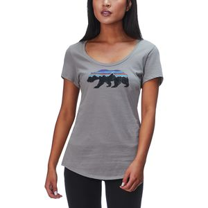 Patagonia Fitz Roy Bear Organic Scoop T-Shirt - Women's
