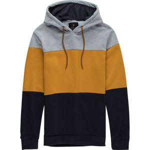 Pacific Blue Colorblock Pullover Hoodie - Men's
