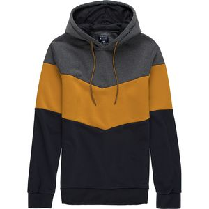 Pacific Blue Two Tone Colorblock Pullover Hoodie - Men's
