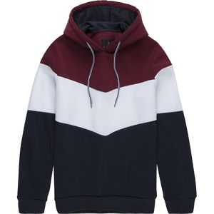 Pacific Blue Chevron Stripe Pullover Hoodie - Men's