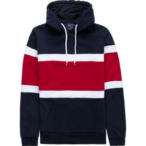 Pacific Blue Nautical Stripe Pullover Hoodie - Men's