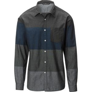Siphon Vivaldi Striped Chambray Button Down Shirt - Men's